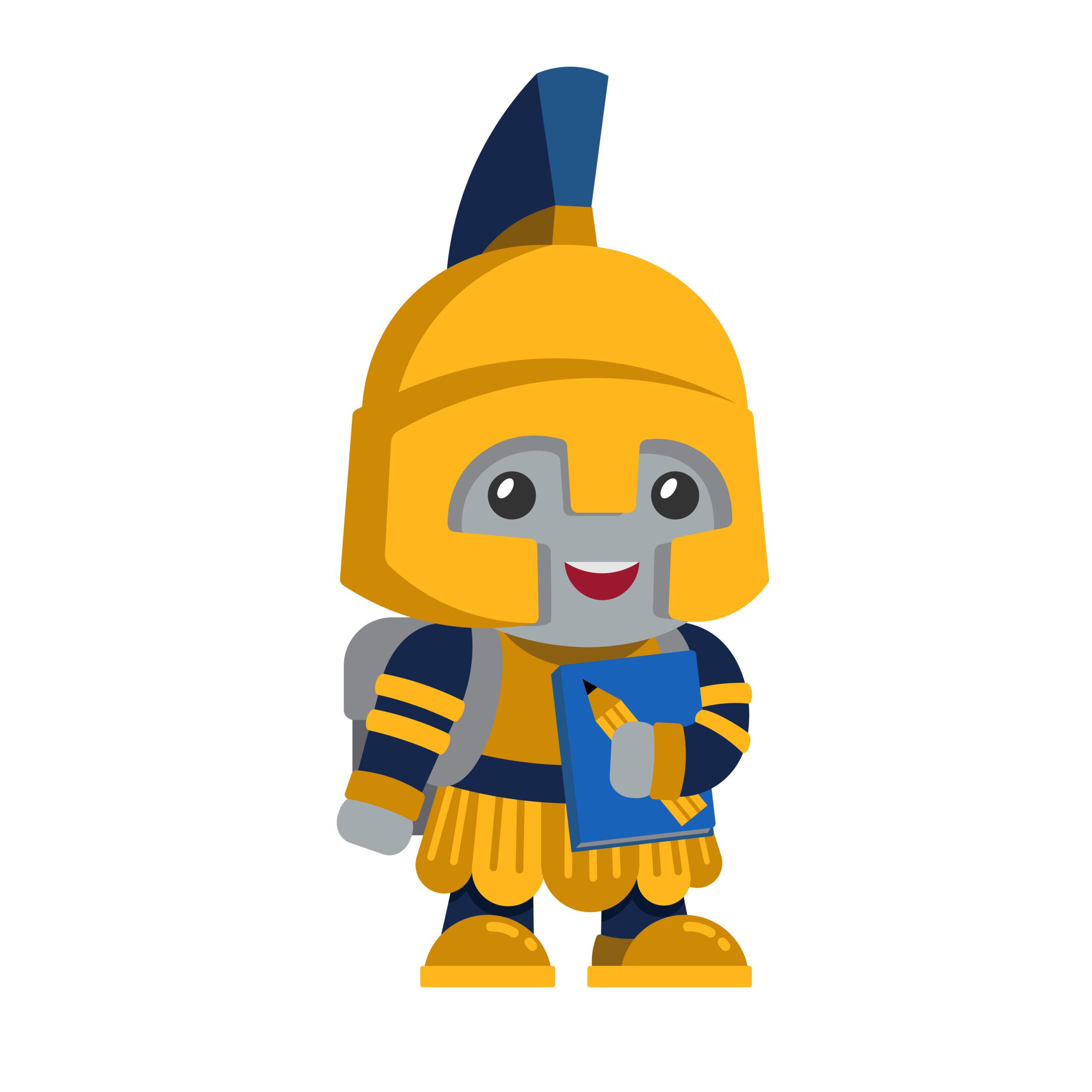 Kid Spartan Mascot