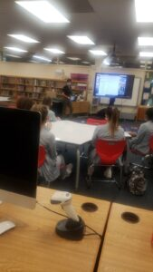Orientation for the nursing students took place in the media center.