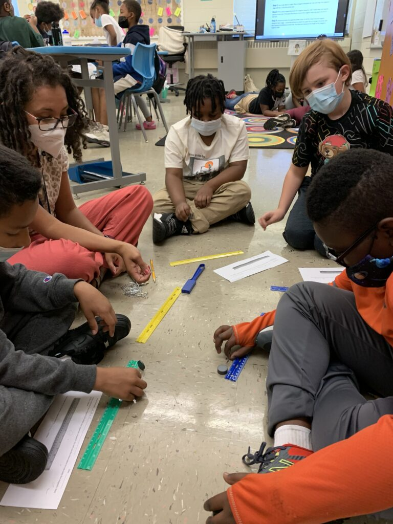 Mrs. Walker emphasized the vocabulary words for the lesson in the questions that she asked students.